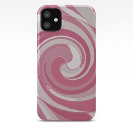 Spiral in Pink and White iPhone Case