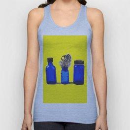 Cobalt Blue Glass Bottle Illustration Unisex Tank Top