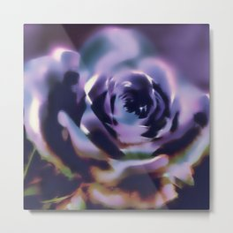 Illusion of a rose in moonlight Metal Print