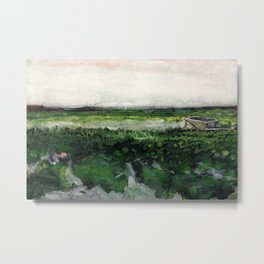Vincent Van Gogh - Landscape with Wheelbarrow Metal Print