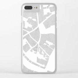 Vilnius map concrete Clear iPhone Case