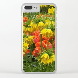 YELLOW CROWN IMPERIAL GREENHOUSE GARDEN Clear iPhone Case