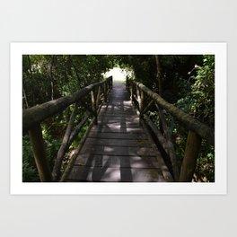 A ponte é uma passagem Art Print