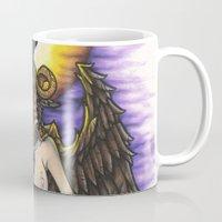 baphomet Mugs featuring Baphomet by Sam Martinez