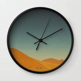 Dark Sky Vivid Red Dunes Wall Clock