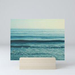 Beach Waves photo. Somewhere Mini Art Print