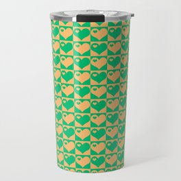 Herzen Liebes Collage Travel Mug