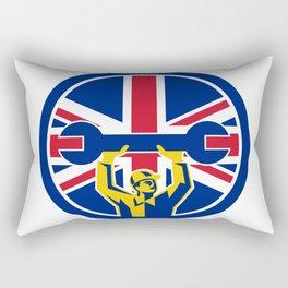 British Mechanic Union Jack Flag Icon Rectangular Pillow