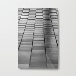 Black & White Scales Metal Print