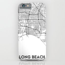 Minimal City Maps - Map Of Long Beach, California, United States iPhone Case