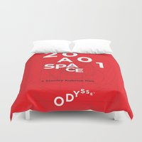2001 Duvet Covers featuring 2001: a space odyssey by Rodrigo Müller