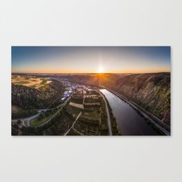 Sunse above the Mosel Canvas Print