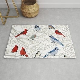 Winter Birds Rug