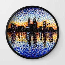 Perth City Sunrise Wall Clock