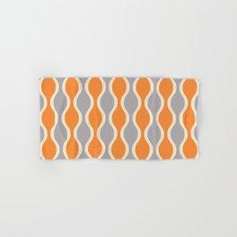 Classic Retro Ogee Pattern 852 Orange and Gray Hand & Bath Towel