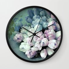 Tulips Antique Wall Clock
