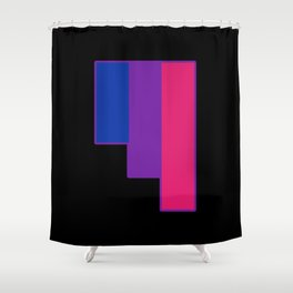 Bisexual and Biromantic Shower Curtain