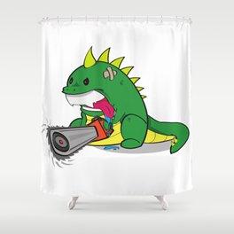 Bossasaurus Rex Shower Curtain