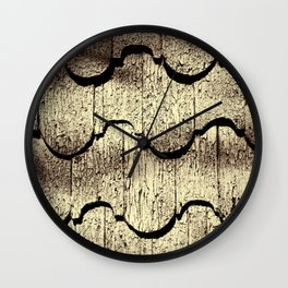 Cracked Paint on Shingles. Wall Clock