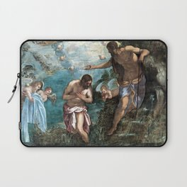 Jacopo Tintoretto Baptism of Christ Laptop Sleeve