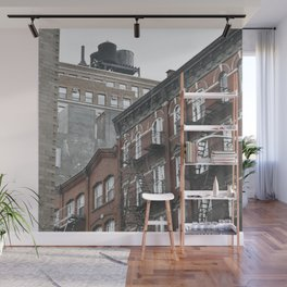 New York City corners, fire escapes, ladders fine art , nyc, America, photo Wall Mural
