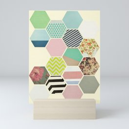 Florals and Stripes Mini Art Print