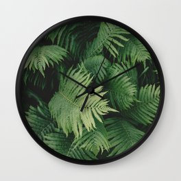 Reaching Ferns Wall Clock