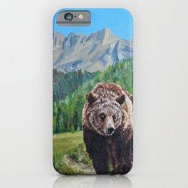 Hiking Partner iPhone Case