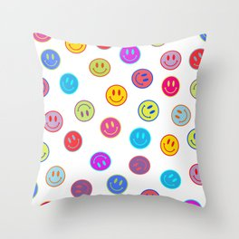 Smiley Obsessed #2 Throw Pillow