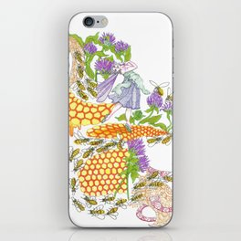 Beebalm Flower iPhone Skin