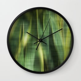 Green Palm Leaves Impression III Wall Clock
