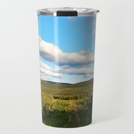 Big Skies over Mountain Trail Travel Mug