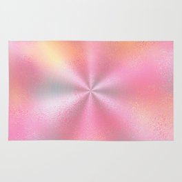 Pink Starburst Pattern Rug