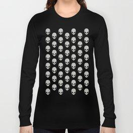 Glitter Grey Aliens Long Sleeve T-shirt