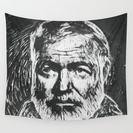 Ernest Hemingway portrait Wall Tapestry