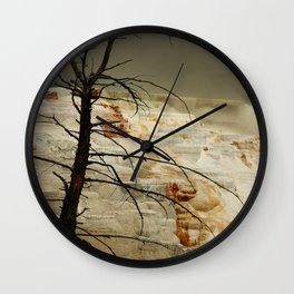 The Beauty Of A Travertine Terrace Wall Clock