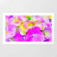 Purple Flowers #1 Art Print