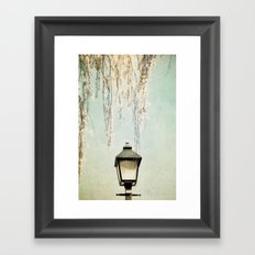 Old Town Blossoms Framed Art Print
