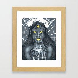 Thought stream Framed Art Print