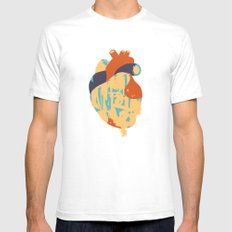 Heart:Released Mens Fitted Tee White SMALL
