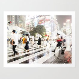 The Shibuya Crossing Art Print