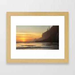 Last Light at Short Sand Beach, Oregon Framed Art Print
