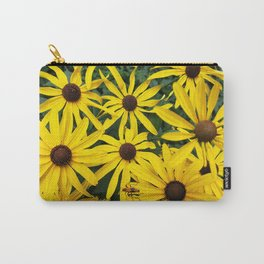 Golden Rudbeckia flowers in the garden Carry-All Pouch