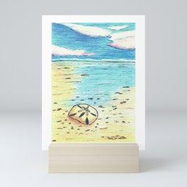 Underwater Sand Dollar at the Beach Mini Art Print