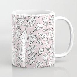 Paper Airplanes Blush Coffee Mug
