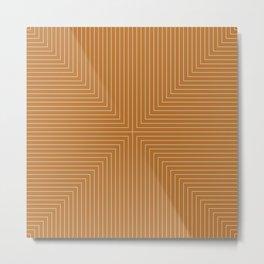 Angular Lines X Metal Print