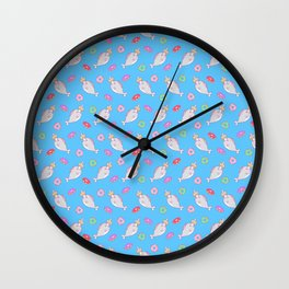 Narwhal and friends Wall Clock
