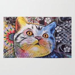Chloe ... Abstract cat pet animal kitty art Rug