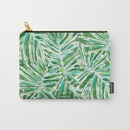 PALMY AND 85 Green Tropical Palm Carry-All Pouch