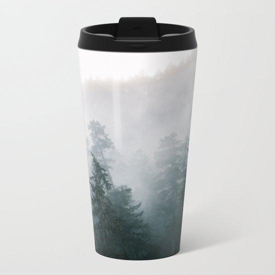 Forest Fog IX Metal Travel Mug